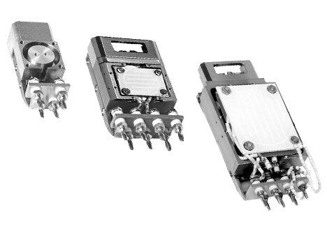 Sample mounting system with UHV-compatible electrical connectors